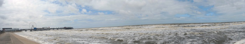 Blackpool panoramic from sea level