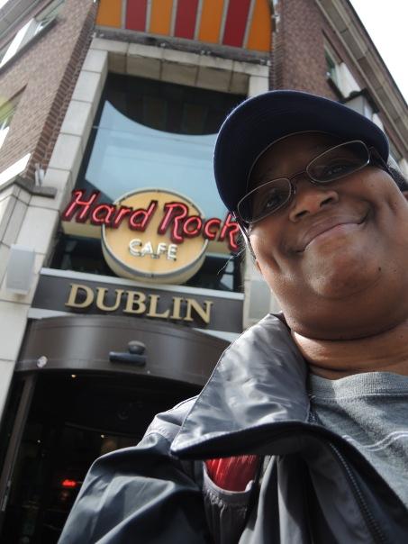 Me in front of Hard Rock, Dublin