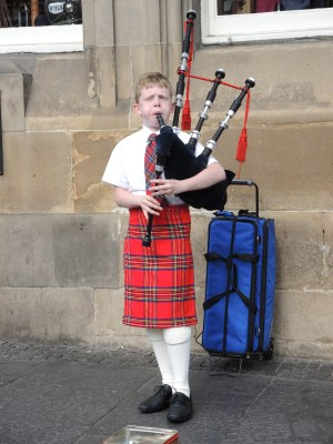 Young Bagpiper in Scotland He was good.