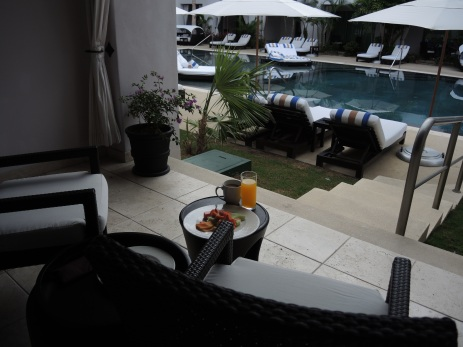 Breakfast Poolside