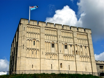 Norwich Castle is a medieval royal fortification in the city of Norwich, in the English county of Norfolk. It was founded in the aftermath of the Norman conquest of England when William the Conqueror (1066–1087) ordered its construction because he wished to have a fortified place in the important city of Norwich.