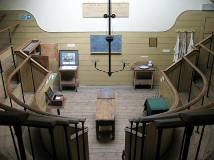 The Old Operating Theatre Museum and Herb Garret at 9a St Thomas Street is a museum of surgical history and one of the oldest surviving operating theatres. It is located in the garret of St Thomas's Church, Southwark, in London, on the original site of St Thomas' Hospital