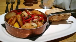 Pan Fried King Prawns w/chilli & garlic