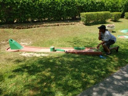 Lining up my putt
