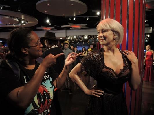 Me & Dame Helen Mirren laughing at a joke