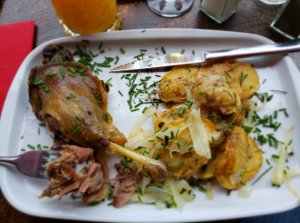Duck and Roasted Potatoes at La Bucherie