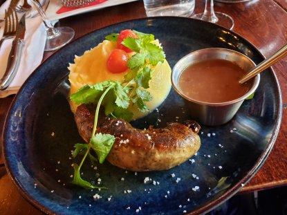 Meat and Mash at Café du Rendez-vous, Paris