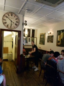Inside the Little French Restaurant