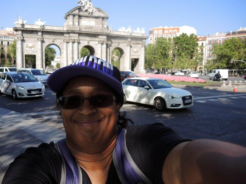 Me in front of Puerta de Alcalá