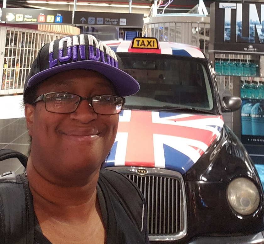 It was cool finding a mini-black London cab in Madrid's airport.