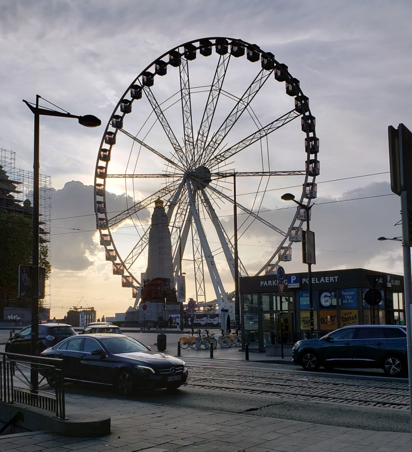 The Big Wheel (The View) rises to 55 meters, which totals a panorama of Brussels of more than 100 meters.