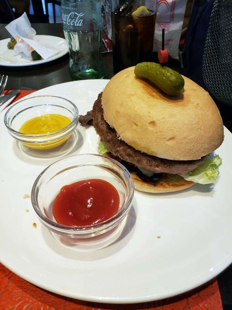 I had the worst hamburger ever at El Foro