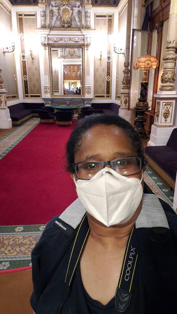 Me in front of Emperor Franz Joseph's Tea Room