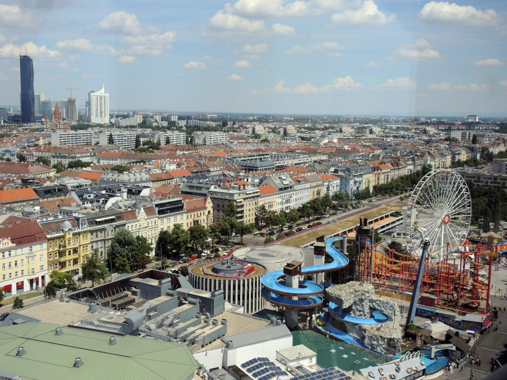 View of Prater Park from Wiener Riesenrad